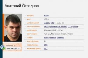 Актер, снявшийся в «Интернах», насмерть замерз в Подмосковье