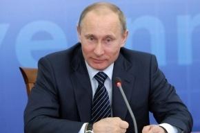 В Петербурге отлили золотого Путина