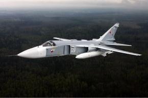 СМИ: Бомбардировщик Су-24 взорвался в воздухе