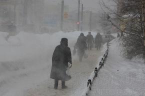 На выходные в Петербурге ждут метель
