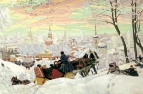 У Петропавловки строят снежную горку для сноуборда