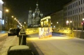 На десяти мостах Петербурга неизвестные признались в любви к Путину