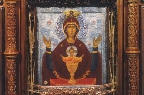 В Петербург приехала икона «Неупиваемая чаша»