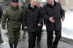 В Подмосковье солдаты с автоматами выскочили на Путина из грузовика