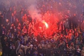 У фанатов «Зенита» полиция отняла флаги и барабаны
