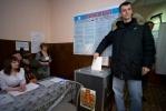 Фоторепортаж: «Михаил Прохоров проголосовал в Красноярском крае»