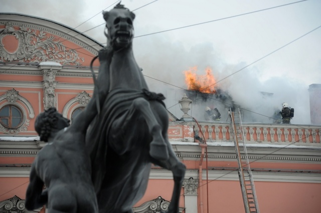 За пожар во дворце Белосельских-Белозерских страховщики могут заплатить полмиллиарда: Фото