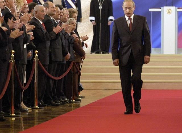 Официальное вступление в должность президента России Владимира Путин 07.05.2004: Фото