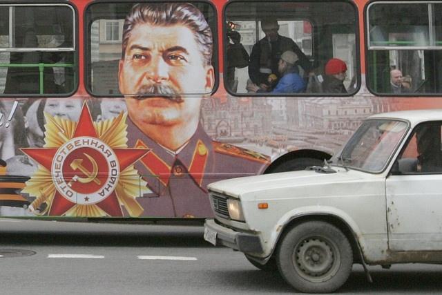 автобус со Сталиным: Фото