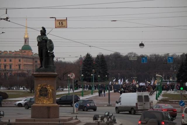 Митинг в Петербурге 24 марта. Фото: Павел Семенов: Фото