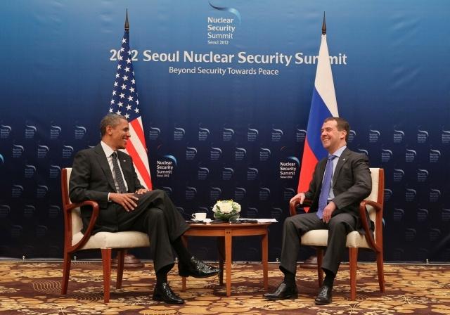 Барак Обама и Дмитрий Медведев: Фото