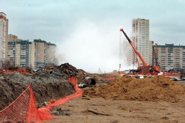 Прорыв трубы на Богатырском проспекте, 20 марта 2012 г.: Фото
