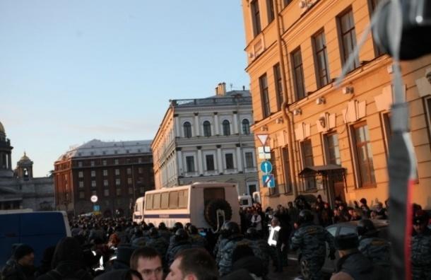 Оппозиция утверждает, что акции протеста на Исаакиевской площади в Петербурге продолжатся