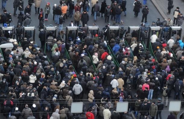 В акции оппозиции на Пушкинской площади в Москве участвует уже 14 тысяч человек
