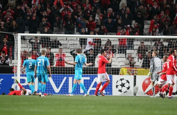 «Зенит» вылетел из Лиги чемпионов, проиграв «Бенфике»