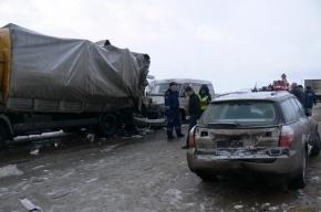 В Тульской области столкнулись 30 автомобилей, погибла пассажирка автобуса