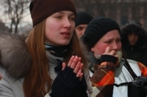 На шествии оппозиции в Петербурге начались задержания
