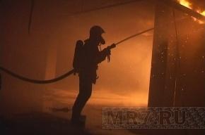 На Васильевском острове произошел пожар в высотном доме
