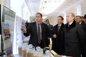 Путин похвалил воронежских фермеров за «бум птичьего мяса» и откушал яблочного соку