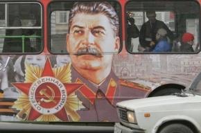 По Петербургу опять будет разъезжать автобус с товарищем Сталиным