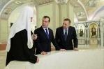 Фоторепортаж: «Дмитрий Медведев в Кронштадтском соборе, 19 апреля 2012»