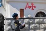 В Хабаровске православный собор исписали матерными словами: Фоторепортаж