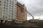 Фоторепортаж: «Строительный кран рухнул на жилой дом»