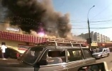 Пожар на Пражском рынке в Москве: Фоторепортаж