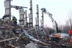 Обрушение здания в Москве: Фоторепортаж