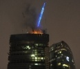 Фоторепортаж: «Пожар в Москва-Сити»