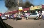 Фоторепортаж: «Пожар на Пражском рынке в Москве»