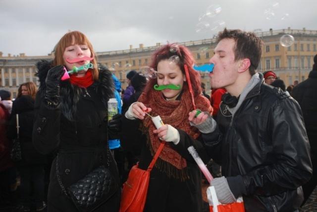 """В Петербурге завершилась акция """"Мыльный город"""": Фото"""