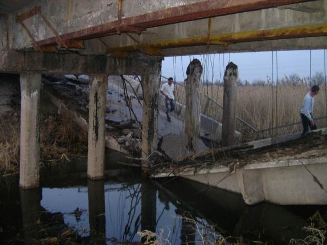Под Самарой обрушился мост: Фото