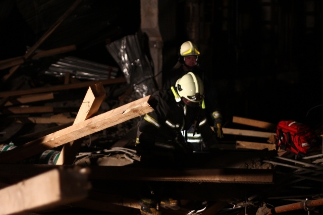 Обрушение здания в Москве: Фото