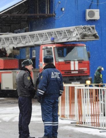 Пожар на рынке в Москве: Фото
