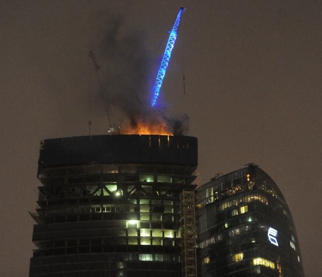 Пожар в Москва-Сити: Фото