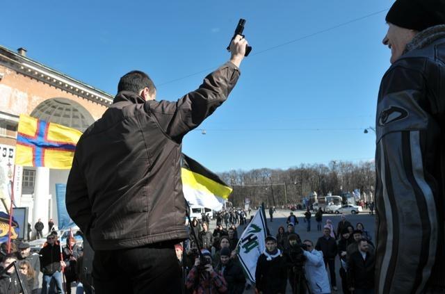 Активисты за легализацию оружия : Фото