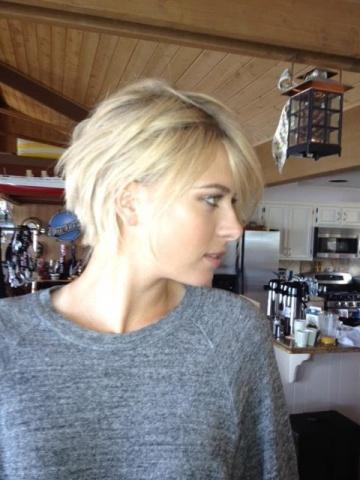 Мария Шарапова с новой и старой стрижкой: Фото