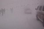 Сильная метель парализовала движение в Сахалине (видео)