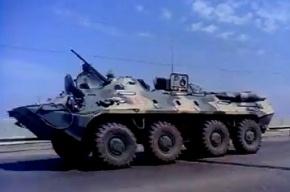 В мятежную Астрахань введена бронетехника (видео)