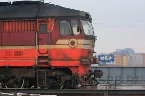 Поезд с петербуржцами протаранил застрявший снегоход и чуть не сошел с рельсов