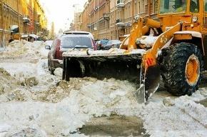 Когда весь снег почти растаял, Полтавченко открыл снегоплавильный пункт