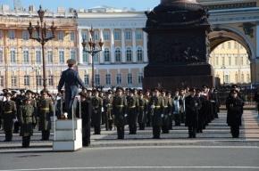 Как на Дворцовой репетируют Парад к 9 мая. Фото с места события