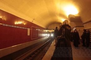 Пьяная петербурженка упала на рельсы в метро