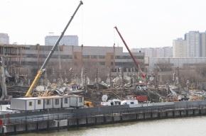 Кадры: жадность привела к обрушению строящегося здания в Москве