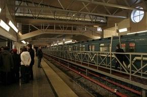На синей ветке метро в Петербурге встали поезда