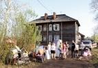 9 жилых домов сгорели: Фоторепортаж