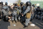 Фоторепортаж: «ОМОН распыляет газ на митингующих »
