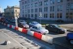 Фоторепортаж: «Пробки из-за закрытой Пироговской набережной»