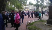 Фоторепортаж: «Лагерь оппозиции на площади Искусств »